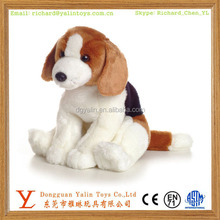 Realistic fancy plush animated beagle dog toy for kids
