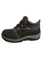 Cow split leather anti-static steel toe safety shoes