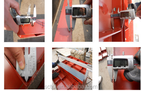 Wall steel flat formwork for construction concrete