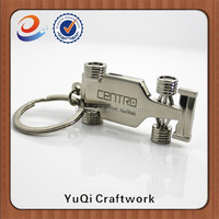 China Factory Directly Supplier zinc alloy promotion custom 3d F1 car metal key chain
