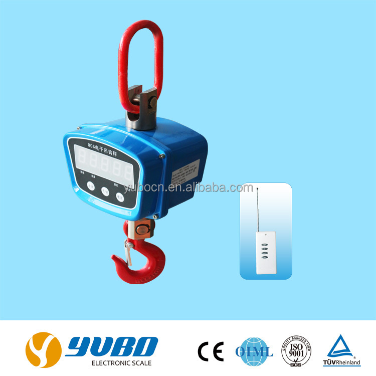 All steel casing wireless hanging weighing scale