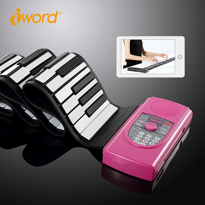 iWord new coming rollup piano harmless silicone usb piano keyboard for pc