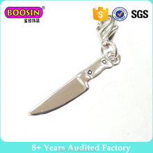 Chinese supplier Wholesale Fashion design metal fruit knife charm lovely small jewelry charm # 18993