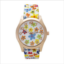 Wholesale ladies dress Geneva flower silicone strap unisex quartz lovers silicone watch