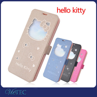 3D Cartoon Flip Leather Hello Kitty Phone Case for iPhone 6 4.7