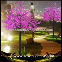 2015 hottest selling color changing led cherry blossom tree light