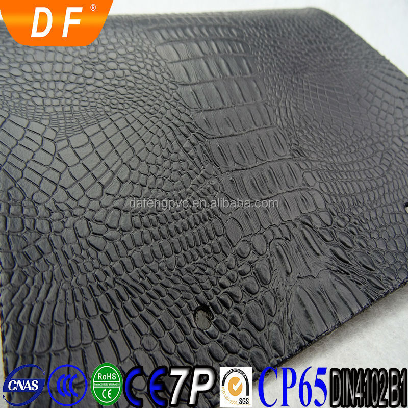 Hot Sale Fashion High Quality Synthetic Leather Crocodile Pattern