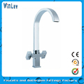 Double Handle Kitchen 3 Way Faucet