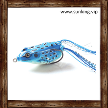 Wholesale Plastic Bass Topwater Fishing Bait Soft Frogs Lure