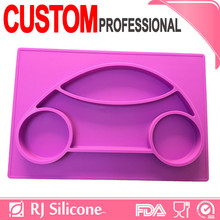 RJSILICONE placemat christmas suction plates for kids children placemat silicone