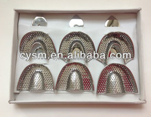 Set of 6 Stainless Steel Dental Impression Trays
