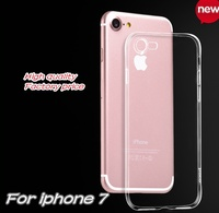 Ultra Thin Clear Crystal Transparent TPU free sample cell phone Case Cover For iPhone 7