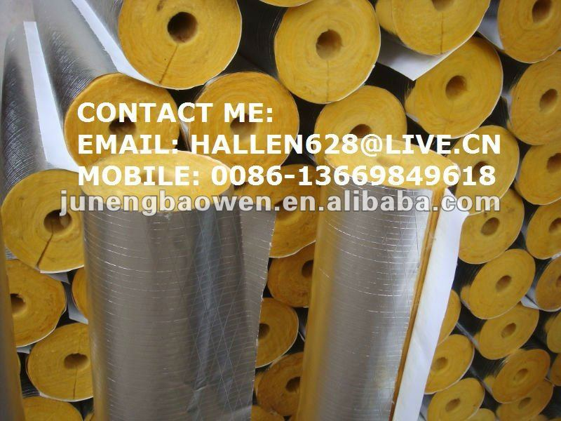 Fiberglass Pipe Insulation / Glasswool Pipe