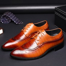 New style fashion shoes with big size brogue lace-up classical men dress shoes
