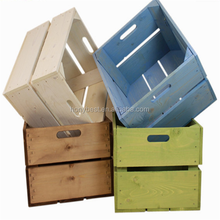 Cheap Wooden Fruit Crates Wholesale with Handles