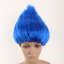 MCW-0167 party carnival cheap men blue big troll wig