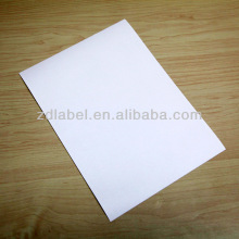 Bopp self adhesive paper label flat sheets