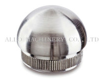 stainless steel handrail end cap for round tubes wash room hardware
