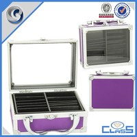 customed high quality purple aluminum tool case storage box