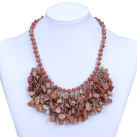 Wholesale 2015 natural gemstone necklace designs