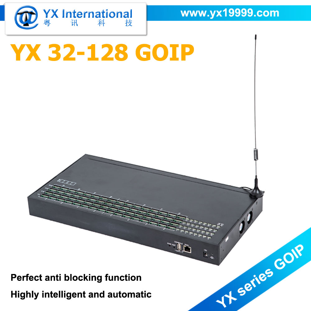 Hot Sale YX 32-128 Goip SIM GSM Gateway 32 Port Call Terminal Addpac GOIP 32-128 Avoid SIM Card Blocked