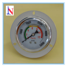 Vibration proof SS hydaulic pressure gauge