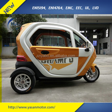China 2 seats passenger tricycle 3 wheel scooter t3 with cabin enclosed 1000w Brushless motor 72V/50Ah adult electric tricycle