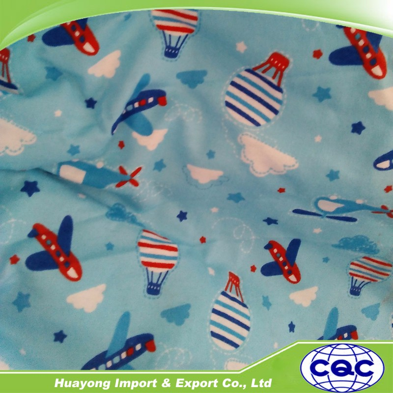 Baby/Kid/Children Clothing fabric 100% cotton print Flannel in Plaid/animal cartoon