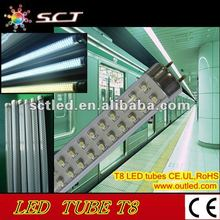 SCT Hot sale T8 led tube flurescent 4feet,1200mm,288leds,SMD LED lightsource,indoor