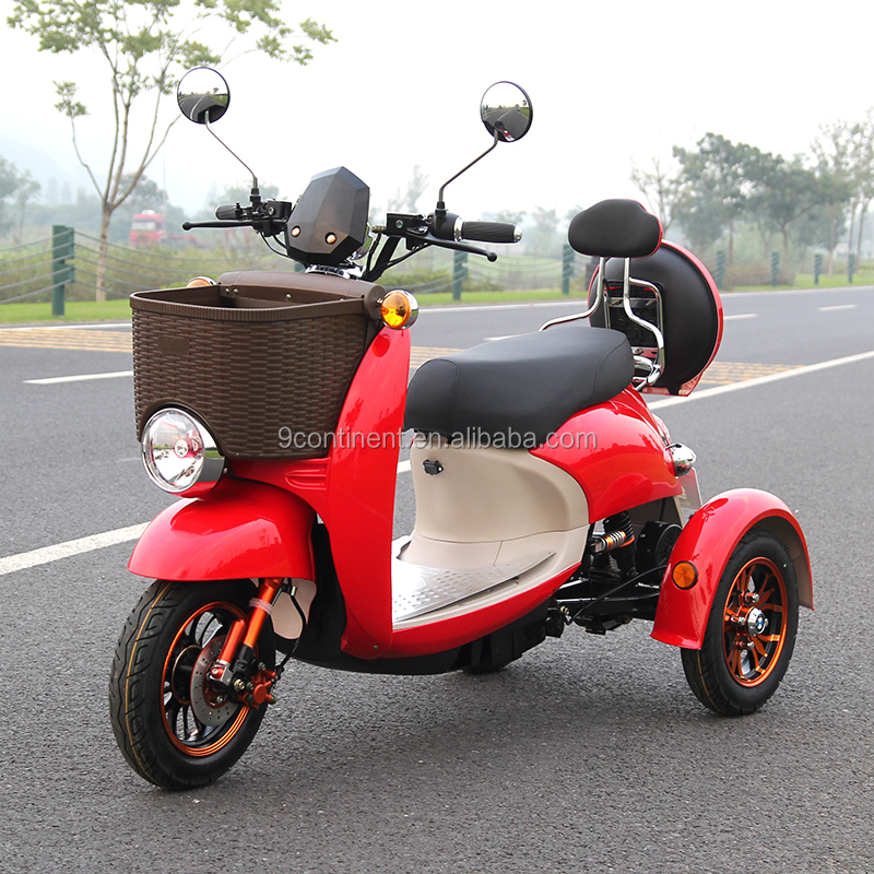 3 wheels electric trike motorcycle scooter for adult