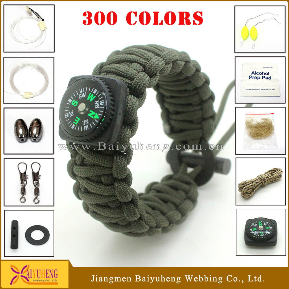 parachute wristband supplies survival paracord bracelet accessories