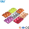 Guojie brand yiwu wholesale custom c polychromy colorful resin stone button crystal rhinestone beads flatback stone