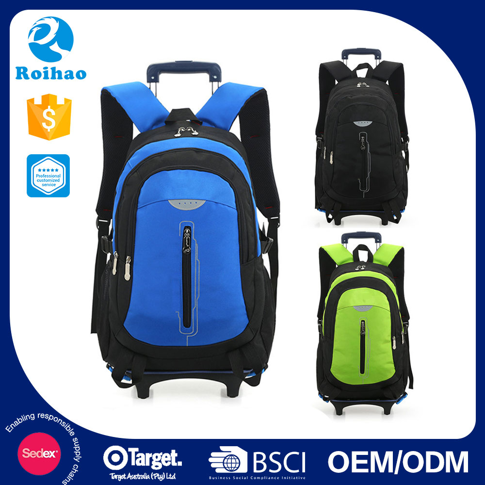 Colorful New Arrival Trolley School Bags For Boys