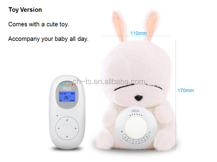 baby products night light music temperature sensor wireless baby phone audio monitor