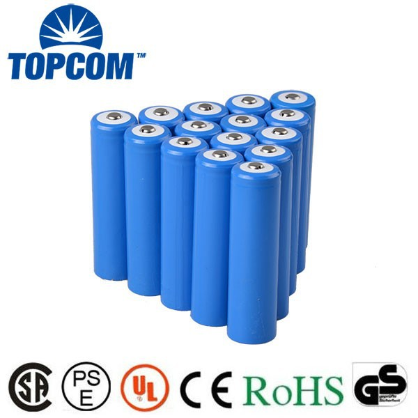 Rechargeable 18650 battery 3.7V 2200mAh