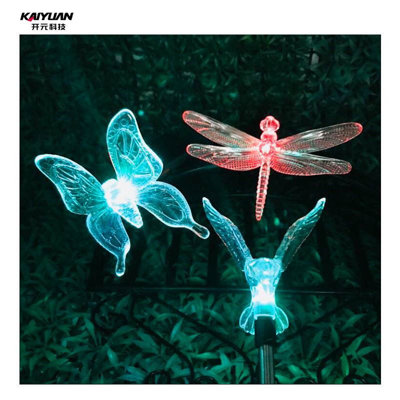LED Garden lamp Butterfly dragonfly hummingbird solar light