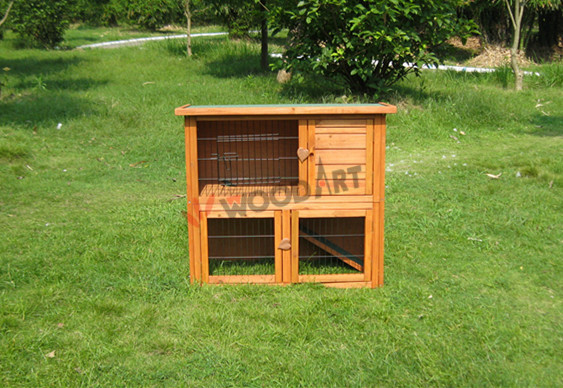Large waterproof two storey wooden cage for breeding rabbits