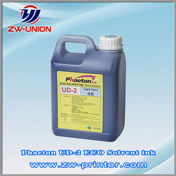 Phaeton UD-2 eco recyling solvent based digital printing ink for eco solvent printer