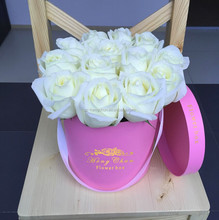 Custom gift box for flower packaging/High quality white cylinder shaped paper gift box with a competitive price