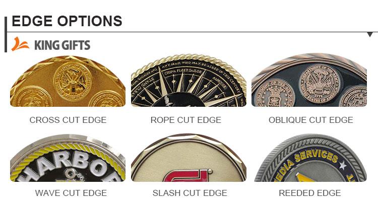 Vários Materiais Feitos Sob Encomenda Baratos do Metal Antigo Moedas Desafio