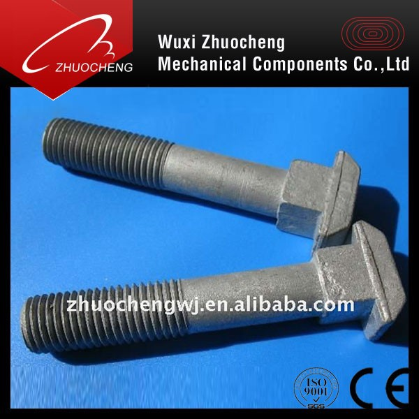 OEM fabrication hot sale DIN261 HDG M6 to M20 square head t bolt with ISO certification