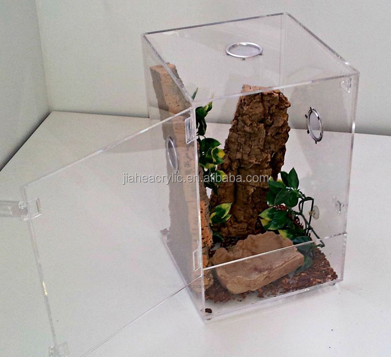 Wholesale transparent clear acrylic/plexiglass/PMMA reptile cages perspex china pet cage