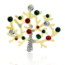 High quality rhinestone and pearl vintage brooch metal pin