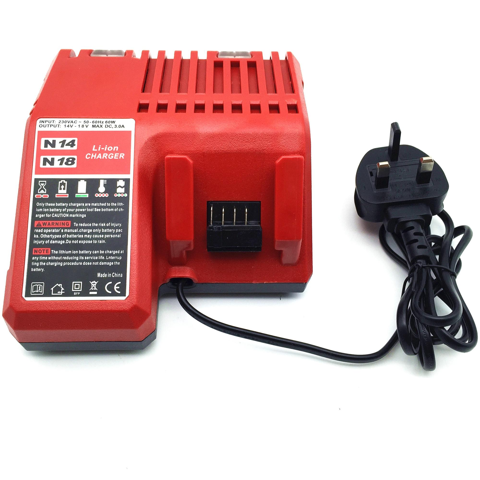 M12 M18 48-59-1812 12v-18v li-ion power tool charger for Milwaukee power tool batteries