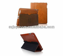 Folio genuine leather case for ipad 2/3/4