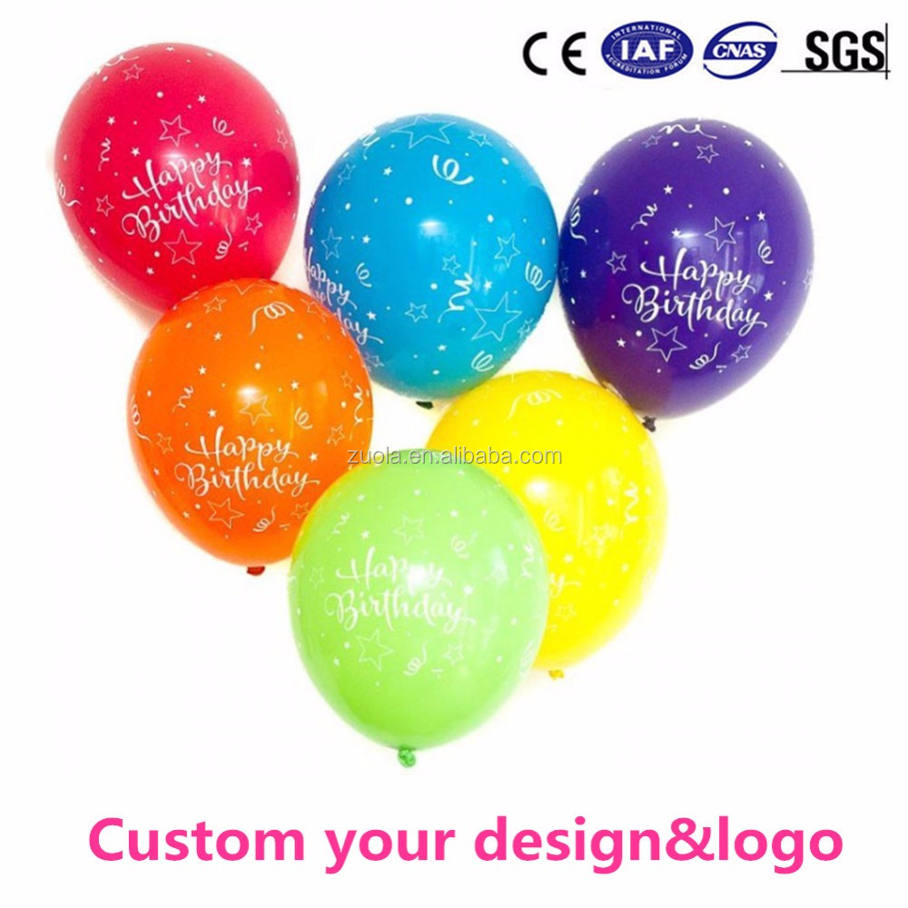 Custom Logo birthday balloons holiday latex balloons for party advertising promotion
