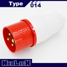 4-pin industrial power plug 014 16A 3P+E 380V IP44