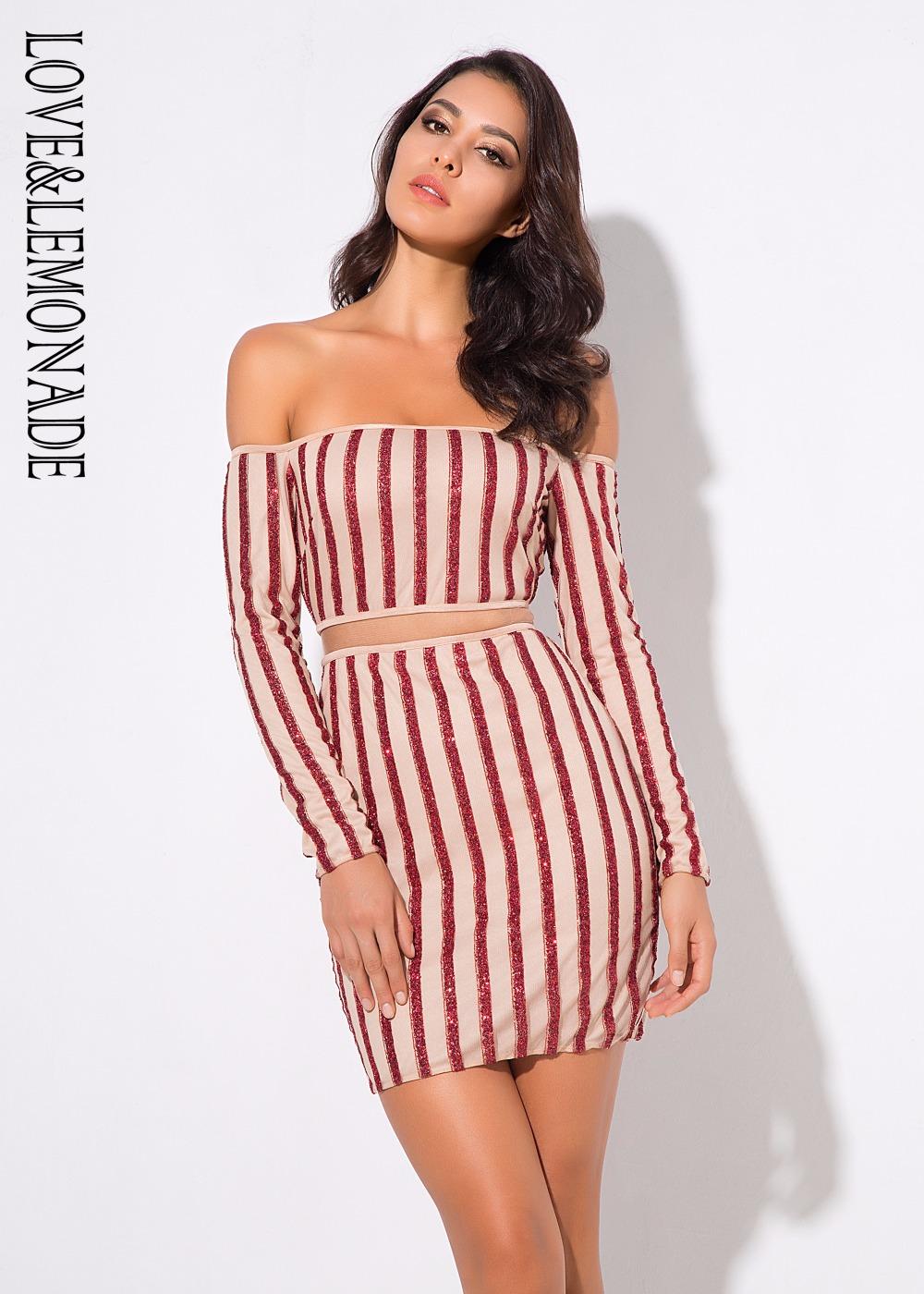 Love Lemonade . Red   Nude Color Neck Mesh Stripes Stitching Dress 3 COLORS  LM0691 2f3251d7ed2c