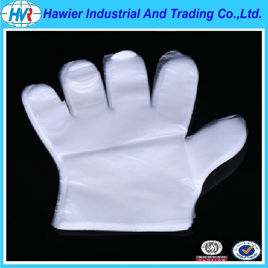 2016 high quality plastic disposable glove from Hawier