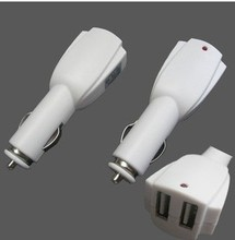 wholesale 2 port usb car charger 6v 1a